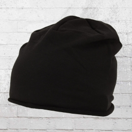 Beechfield Mütze Jersey Beanie schwarz