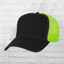 Beechfield Trucker Mütze schwarz grün
