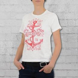 Billabong Damen Anker T-Shirt Basic Tee weiss