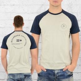 Billabong Herren Raglan T-Shirt Emblem beige navy