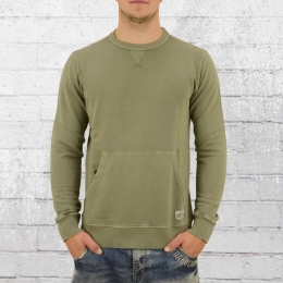 Billabong Herren Sweater Wave Washed Crew vintage oliv