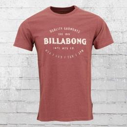 Billabong Herren T-Shirt Brewery rot-braun melange