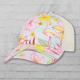 Billabong Kappe Tropicap Trucker Hat weiss rosa