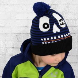 Billabong Kinder Strick Mütze Mesa Bommelmütze blau schwarz