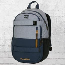 Billabong Laptop Rucksack No Comply Skate Pack grau dunkelblau