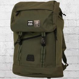 Billabong Trekking Rucksack Track Pack mit Laptop Fach oliv