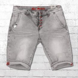 Blue Monkey Herren Jeans Short Alex vintage grau