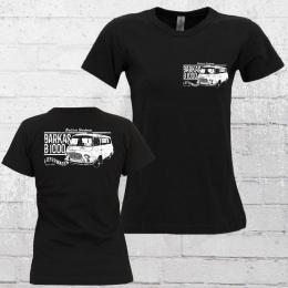 Bordstein Damen T-Shirt B1000 Lieferwagen 2 schwarz