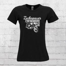 Bordstein Damen T-Shirt TS 250 2 Takt Motorräder Zschopau schwarz