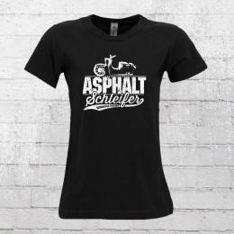 Bordstein Frauen T-Shirt Asphaltschleifer schwarz