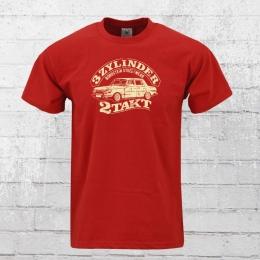 Bordstein Herren T-Shirt 3 Zylinder 2-Takt rot