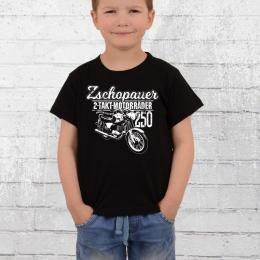 Bordstein Kinder T-Shirt TS250 Zschopauer 2 Takt Motorräder schwarz