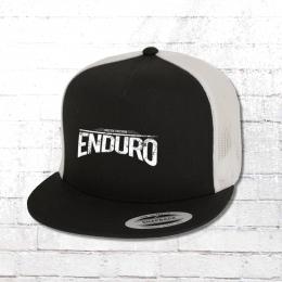 Bordstein Mütze Enduro Trucker Mesh Cap schwarz weiss