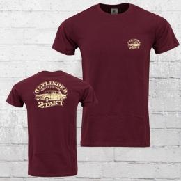 Bordstein Slim Fit T-Shirt Herren 3 Zylinder 2-Takt 2 weinrot