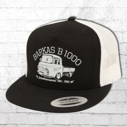 Bordstein Trucker Snapback Kappe B1000 Pritsche schwarz weiss