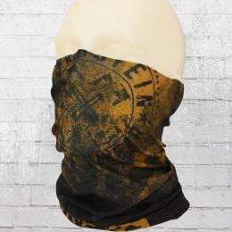 Bordstein Tube Schal Aufgehende Sonne schwarz braun