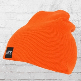 C Like Zebra Strickmütze Like Beanie orange