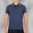 Merc London Herren Polo Shirt Card blau