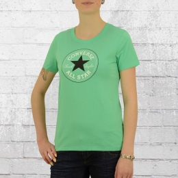 Converse Frauen Boyfriend T-Shirt Core Solid Chuck Patch grün