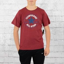 Converse Kinder T-Shirt Chuck Patch Tee weinrot melange