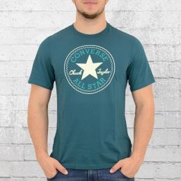 Converse Männer T-Shirt Core Chuck Patch petrol blau grün