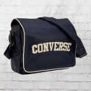 Converse Schulter Tasche Flap Reporter Heritage PU Bag dunkelblau
