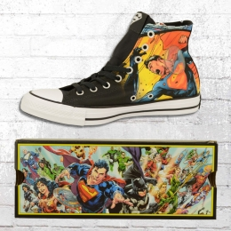 Converse Unisex Comic Chucks Superman CT High Schuhe schwarz