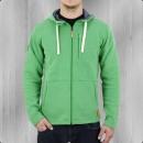 Derbe Männer Kapuzenjacke Daily Sweater grün meliert