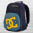 DC Shoes Backpack Rucksack Detention Laptop-Fach dunkelblau gelb