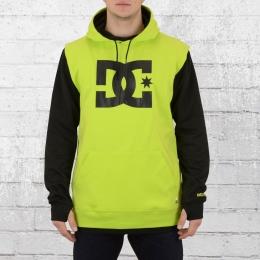 DC Shoes Herren Kapuzenpullover Dryden Snow Hoody schwarz neon gelb