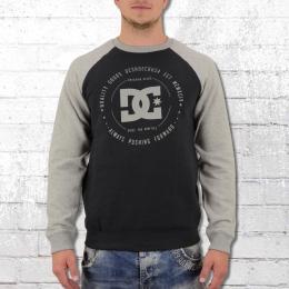 DC Shoes Herren Sweater Rebuilt Raglan schwarz grau