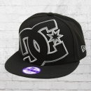 DC Shoes Kinder Snapback New Era Mütze Double Up Cap schwarz grau