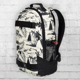 DC Shoes Rucksack Grind Backpack mit Board-Halter cremeweiss schwarz