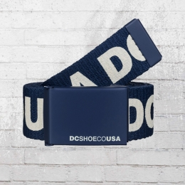 DC Shoes Stoffgürtel Chinook 6 Reversible Belt dunkelblau weiss