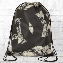 DC Shoes Turnbeutel Simpski Gym Bag schwarz weiss marmoriert