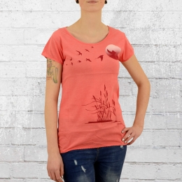 Derbe Hamburg Damen T-Shirt Reed coral melange