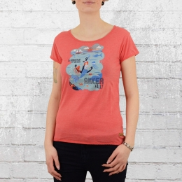 Derbe Hamburg Frauen T-Shirt Zu Hause rose