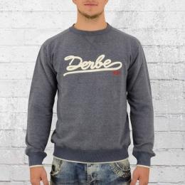 Derbe Hamburg Herren Sweater Crew blau meliert