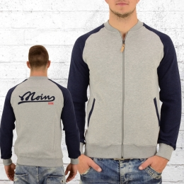 Derbe Hamburg Herren Sweatjacke Fellow grau navy blau
