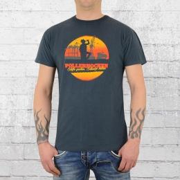 Derbe Hamburg Herren T-Shirt Pollerhocken OC blau