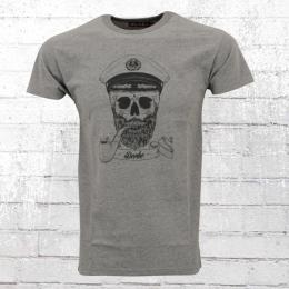 Derbe Hamburg Herren T-Shirt Spooky grau