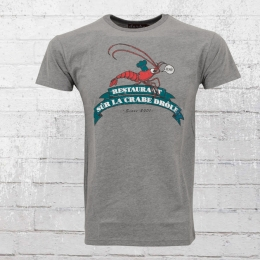Derbe Hamburg Männer T-Shirt Crabe Drole grau