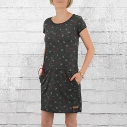 Derbe Hamburg Mini Kleid Pusteblume dunkel grau