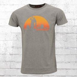 Derbe Herren T-Shirt Feierabend reloaded grau meliert