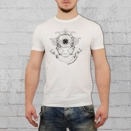 Derbe Herren T-Shirt Schwammtaucher weiss