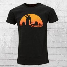 Derbe Männer T-Shirt Feierabend reloaded schwarz orange