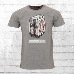 Derbe Männer T-Shirt Herrenhandtasche Reloaded grau