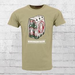 Derbe Männer T-Shirt Herrenhandtasche Reloaded oliv