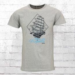 Derbe Männer T-Shirt Meine Alte Fregatte grau