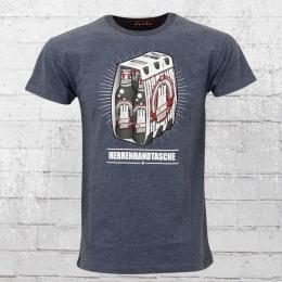 Derbe T-Shirt Männer Herrenhandtasche Reloaded blau